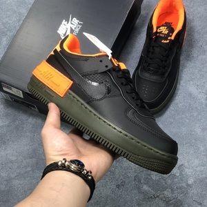 Nike air force 1 black sneakers for men
